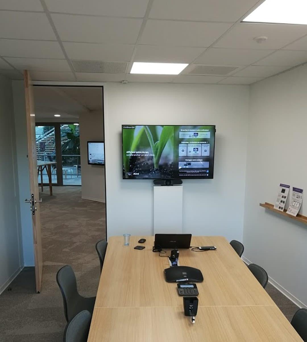 salle de réunion installé par wipple