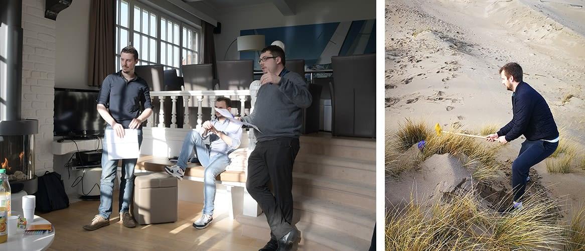 Session en Belgique - Brainstorming - Beach Golf