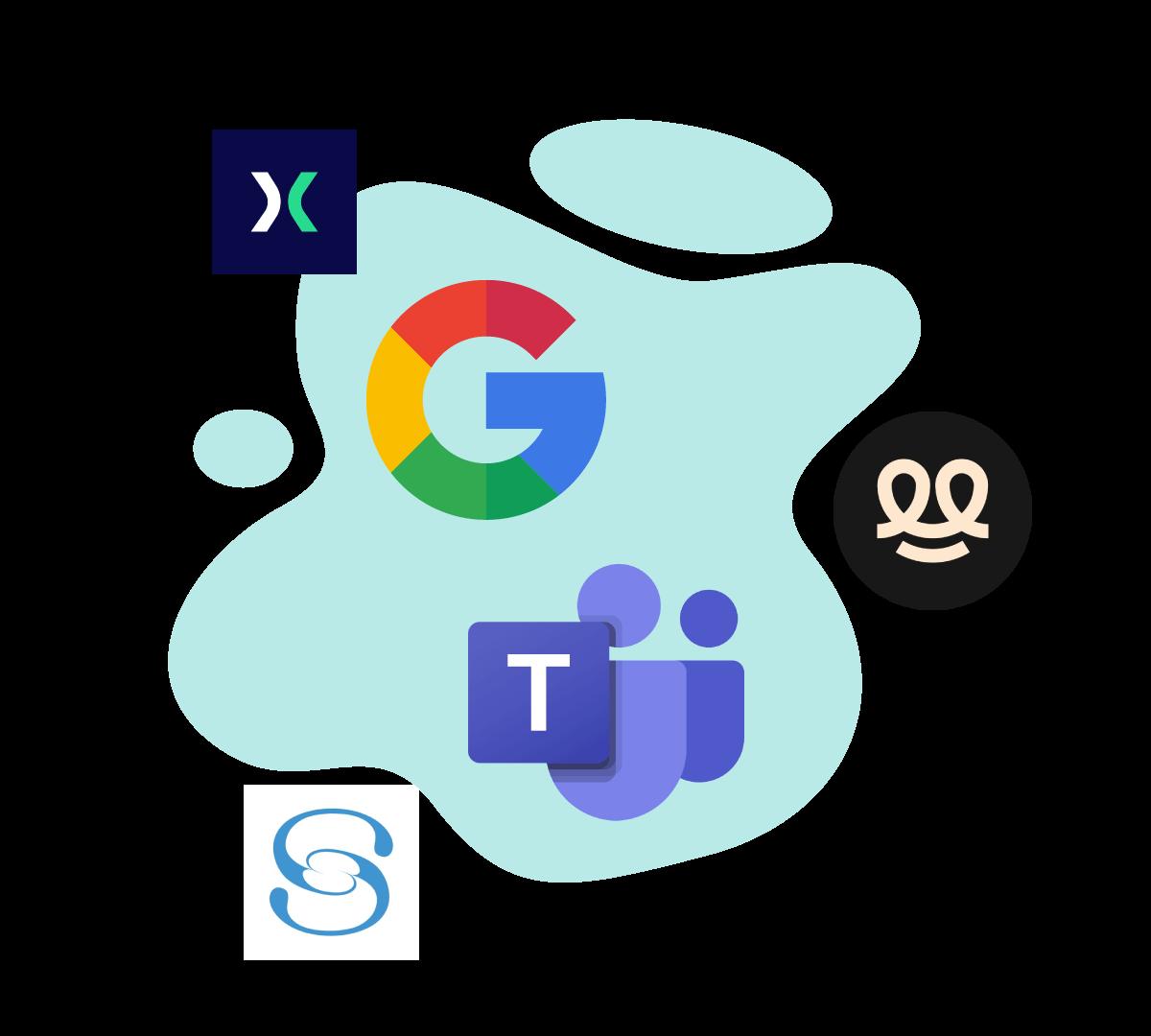 logo des différents acteurs accueil digital comeen, sharing cloud, proxyclick