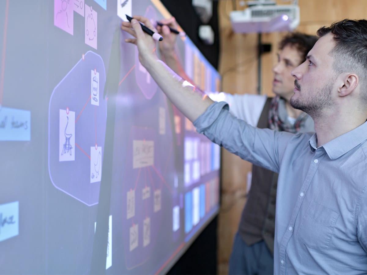 mur digital de créativité hoylu