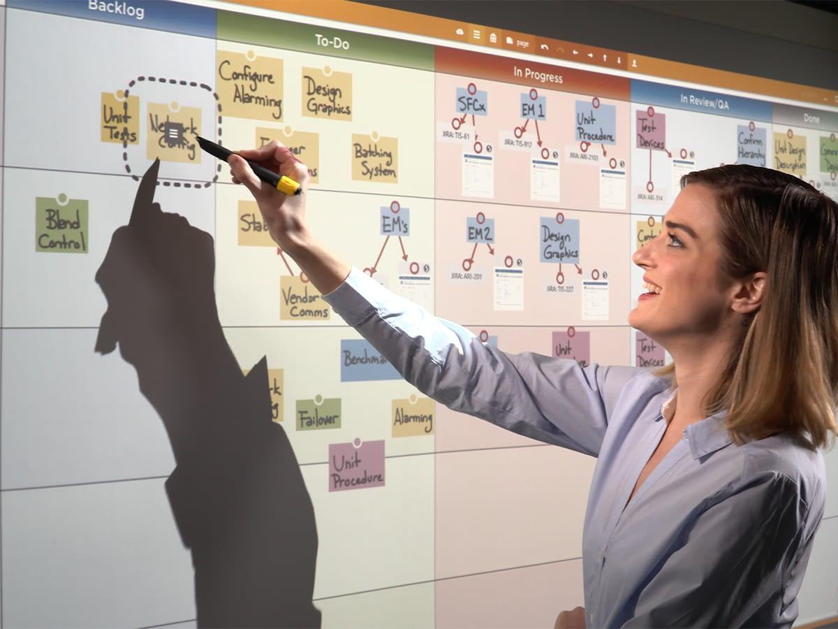 mindmapping sur un mur digital avec hoylu flow