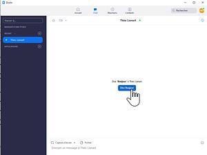 capture écran chat et messagerie instantanée sur zoom