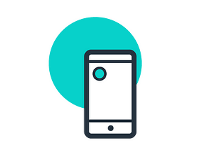 Icone téléphone mobile, smartphone