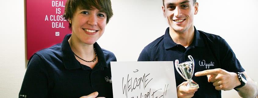 Aurélie et Maxime, commercial wipple,  prêts à vous aider dans tous vos projets